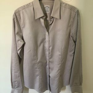 Brooks Brothers Gray Striped Shirt